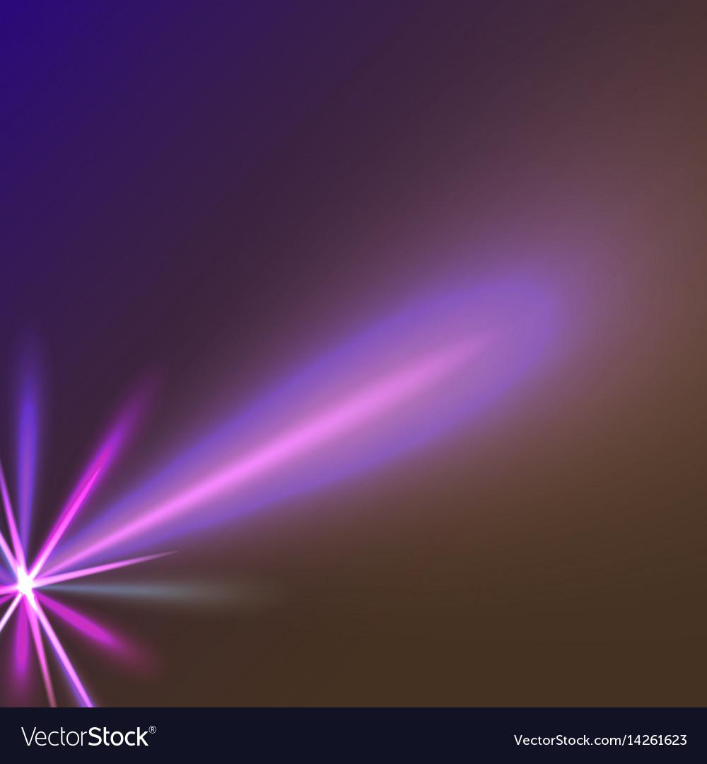 Purple star ray vector image