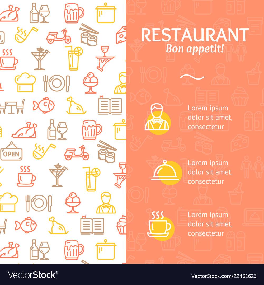 Restaurant service bon appetit concept