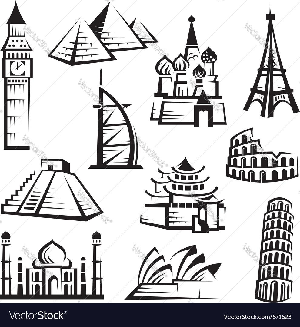 Set of landmarks