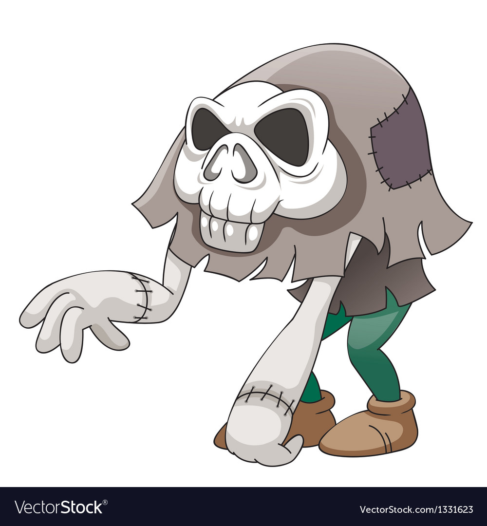 Skull monster vector image
