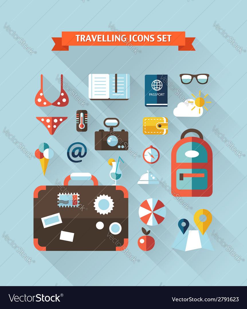 Travel flat design composition