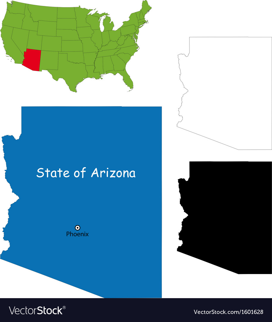 Arizona map vector image