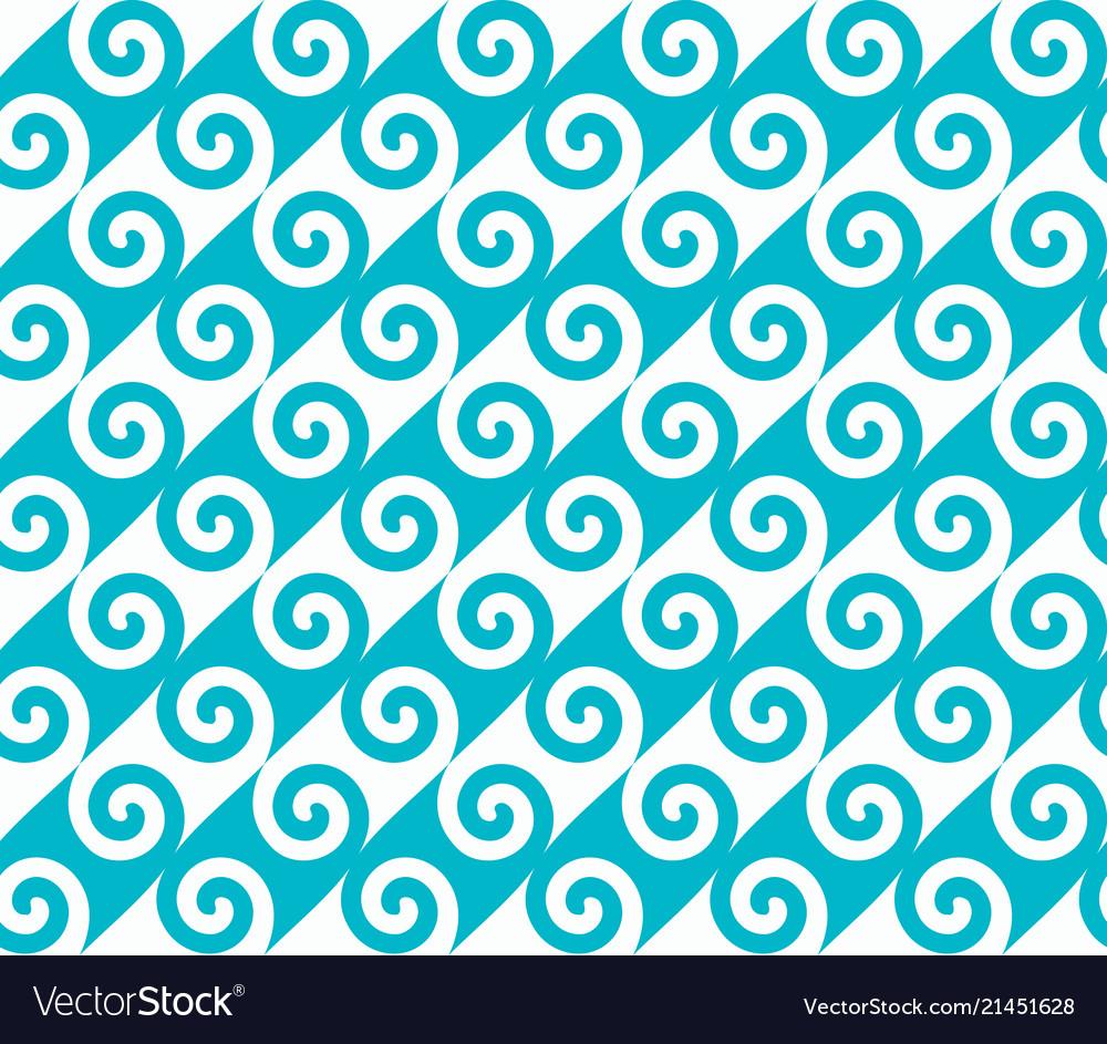 Diagonal blue spiral wave pattern