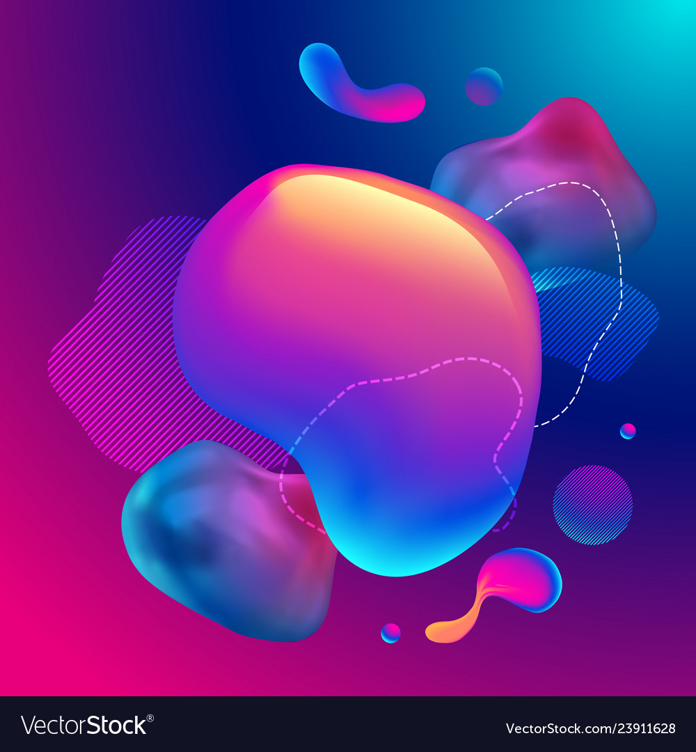 Fluid design graphic elements dynamic background