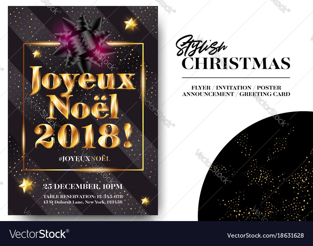 Joyeux noel 2018 merry christmas in french vector image stopboris Gallery
