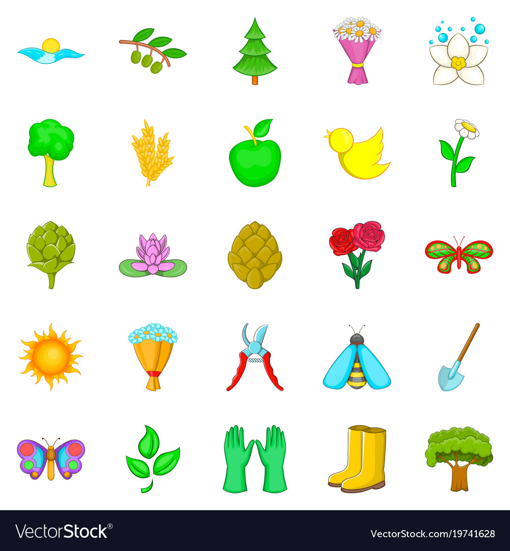 Prime icons set cartoon style vector image