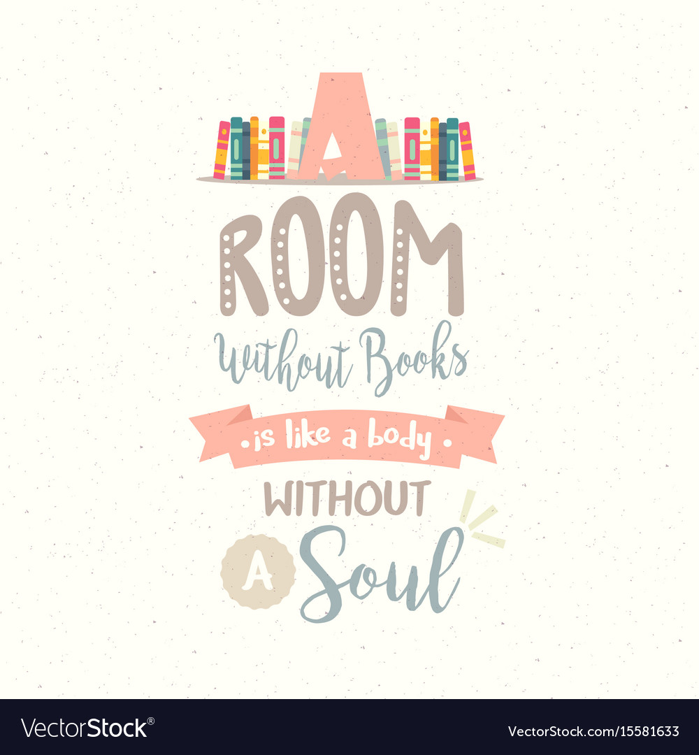 A room without book body without soul vector image