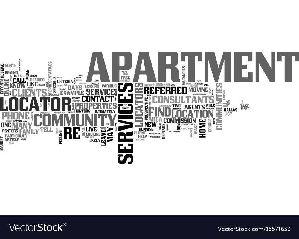 Apartment for rent text word cloud concept