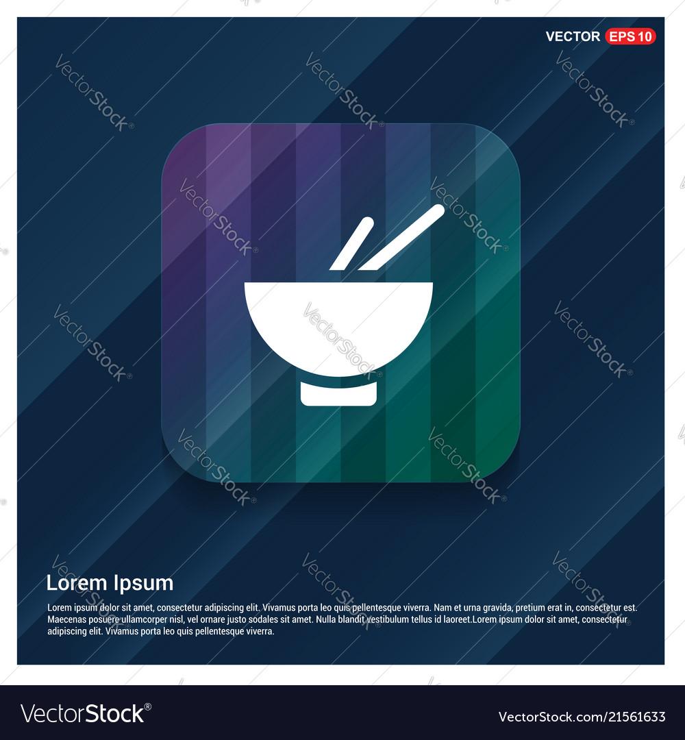 Bowl and chopsticks icon