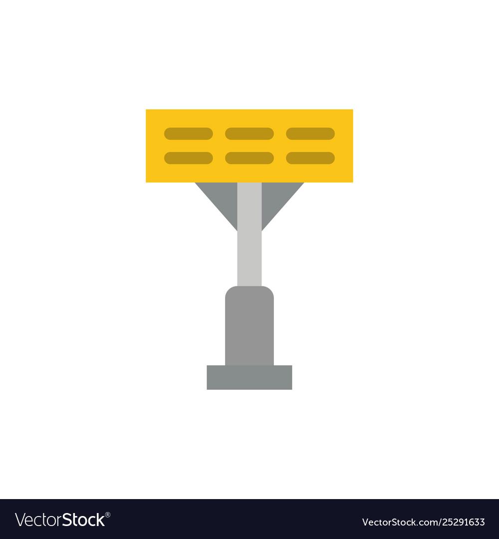 Construction light stadium flat color icon icon
