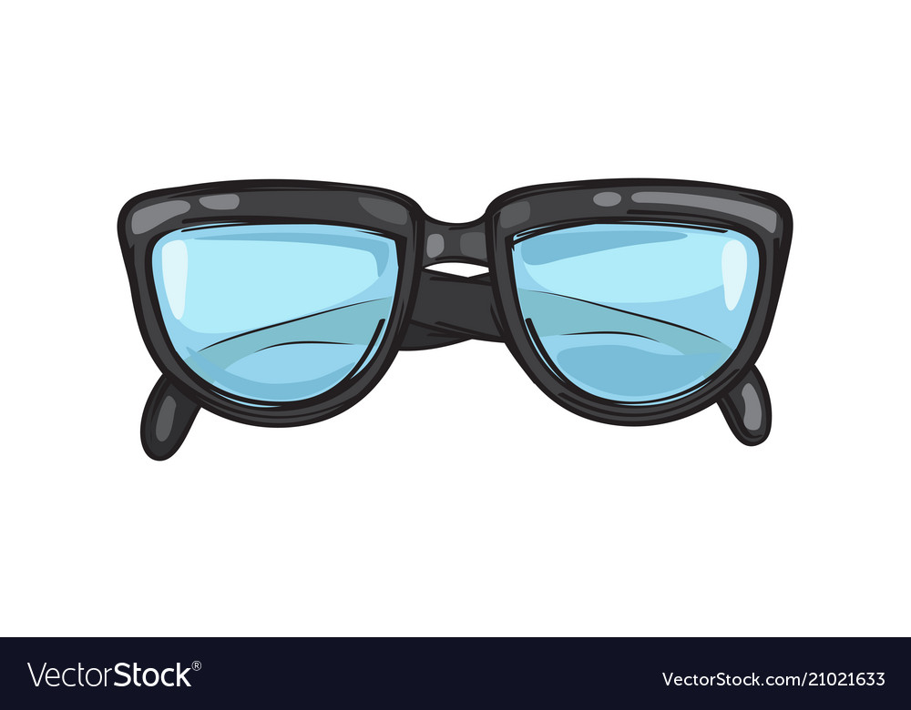Fashionable black eyeglasses frame