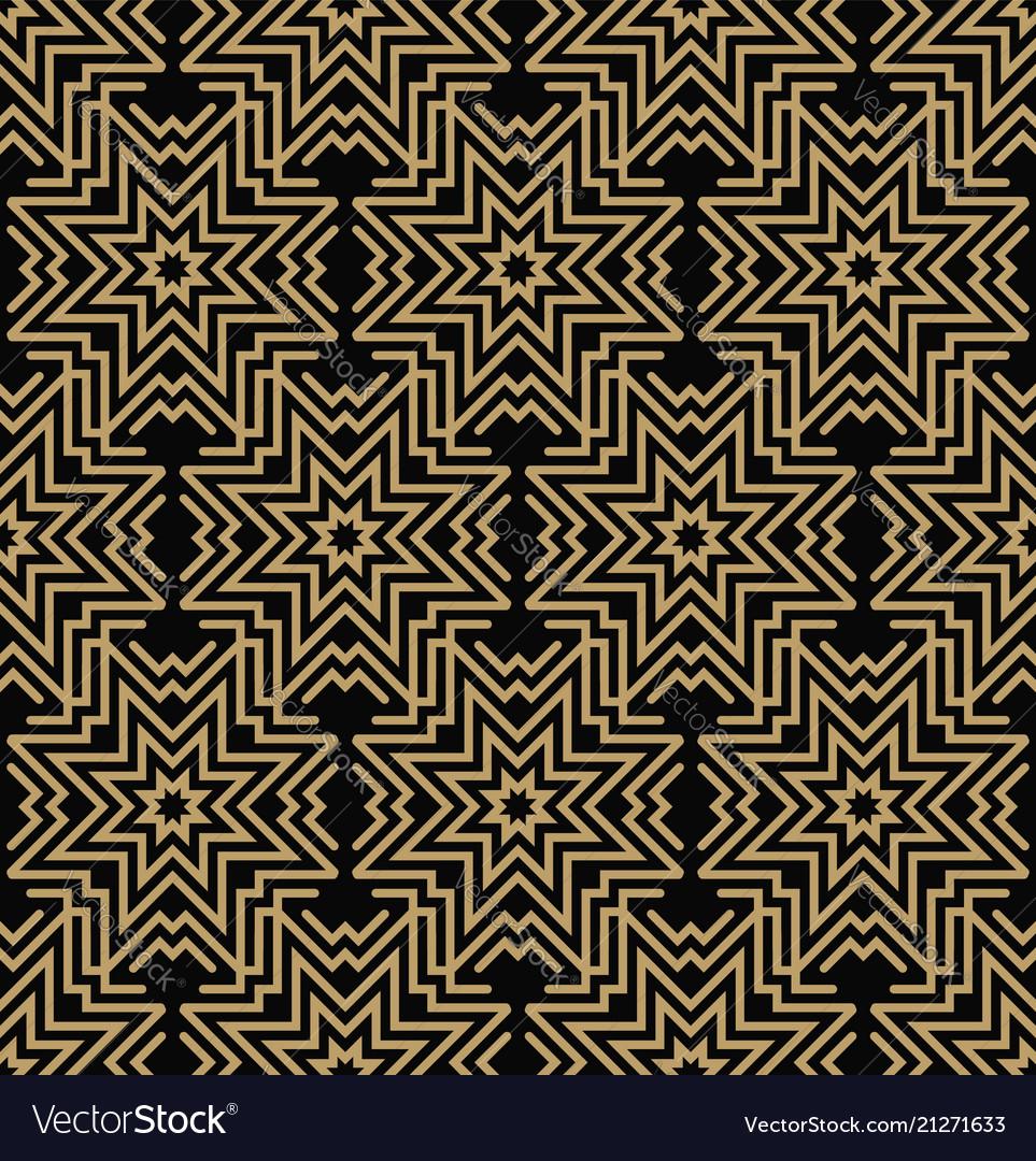 Geometric line ornament seamless pattern modern