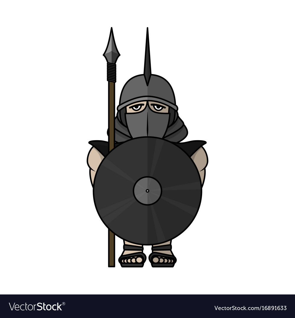 Spartan warrior stylized warrior