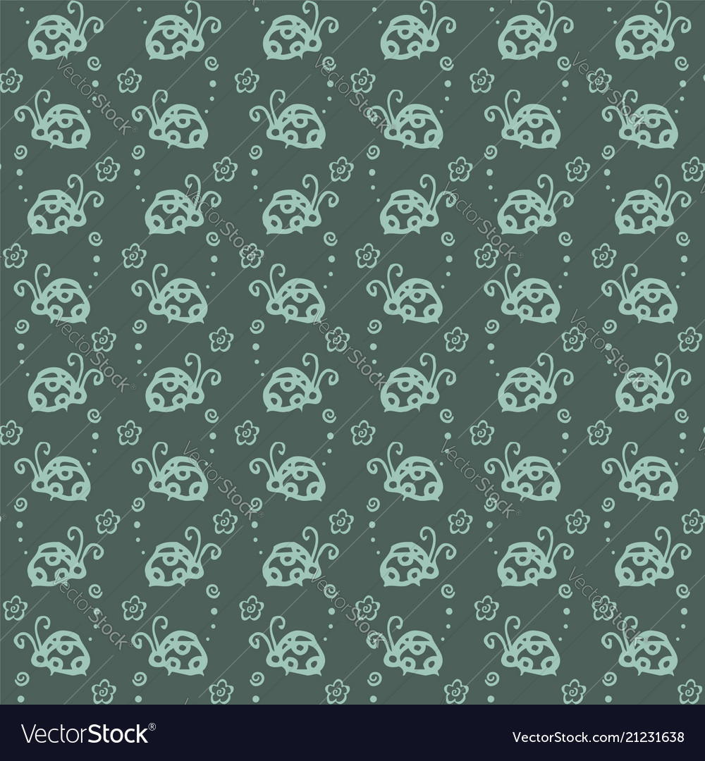 Beetle colorful pattern background with blue color