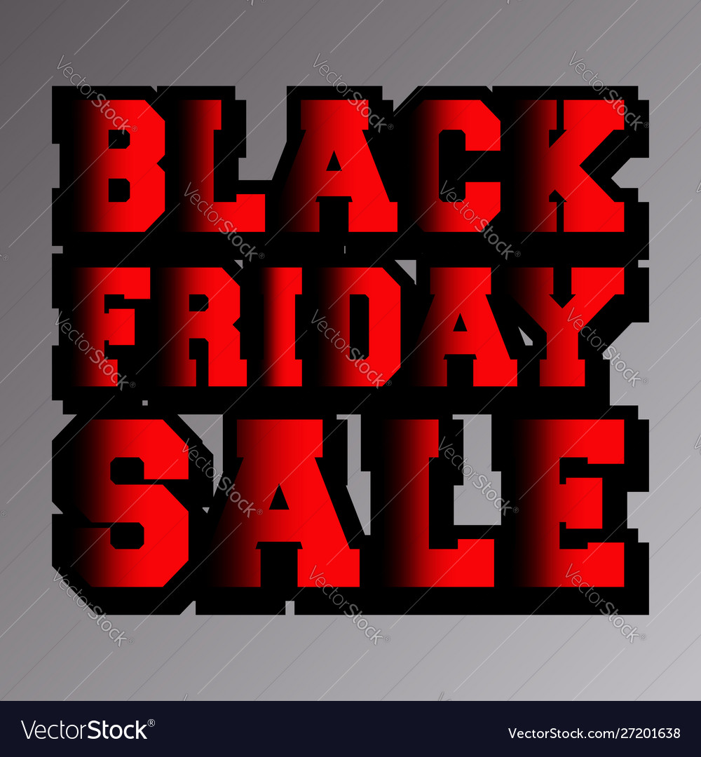 Black friday sale typography design for cover