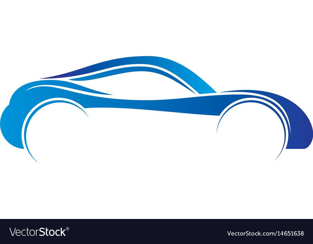 Car abstract automotive concept logo image vector image