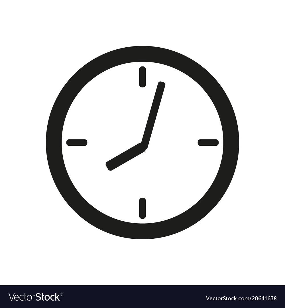 clock face icon on white background royalty free vector rh vectorstock com alarm clock icon vector time clock icon vector