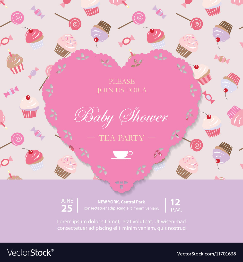 elegant template with lacy cutout heart royalty free vector