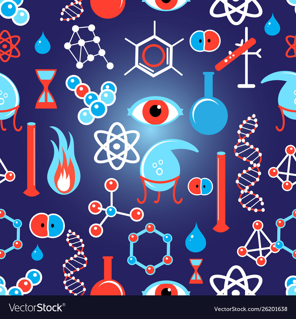 Seamless beautiful graphic pattern chemical