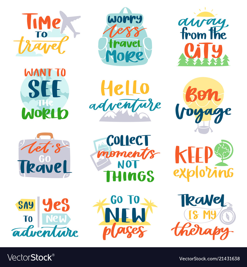 Travel lettering adventure calligraphy text