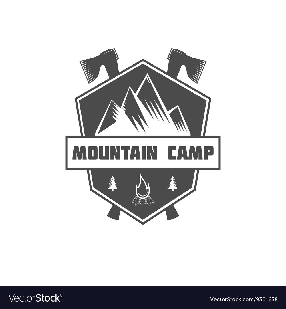Vintage mountain explorer labels