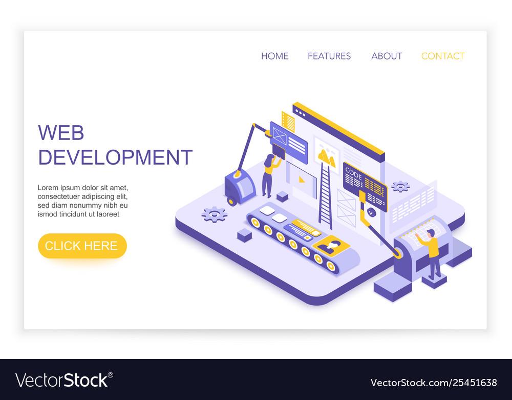 Web development and design infographics desktop