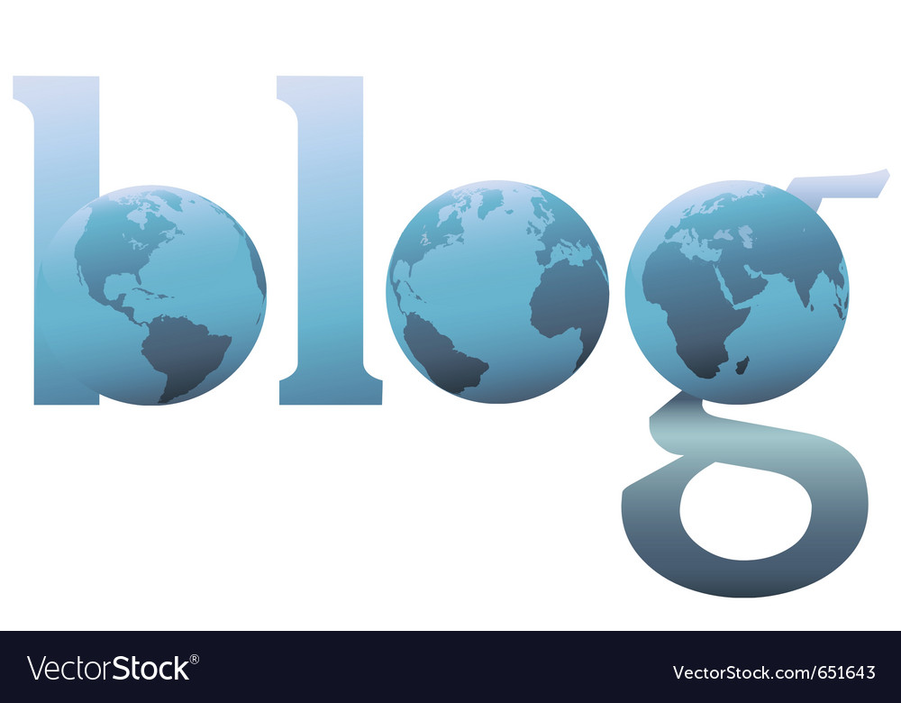 Blog world wide web logo vector image