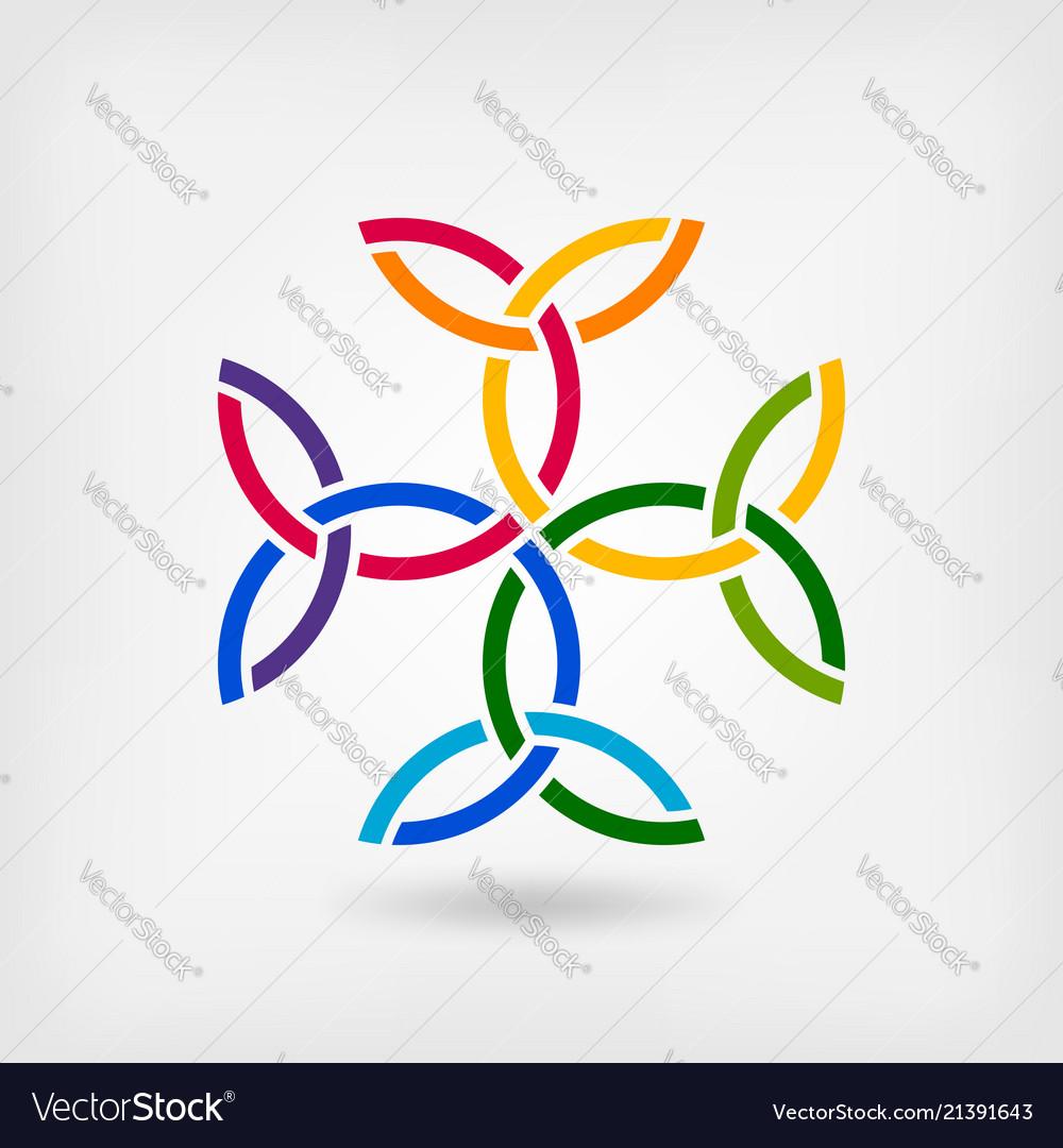 Carolingian Cross Trinity Knots Celtic Symbol Vector Image