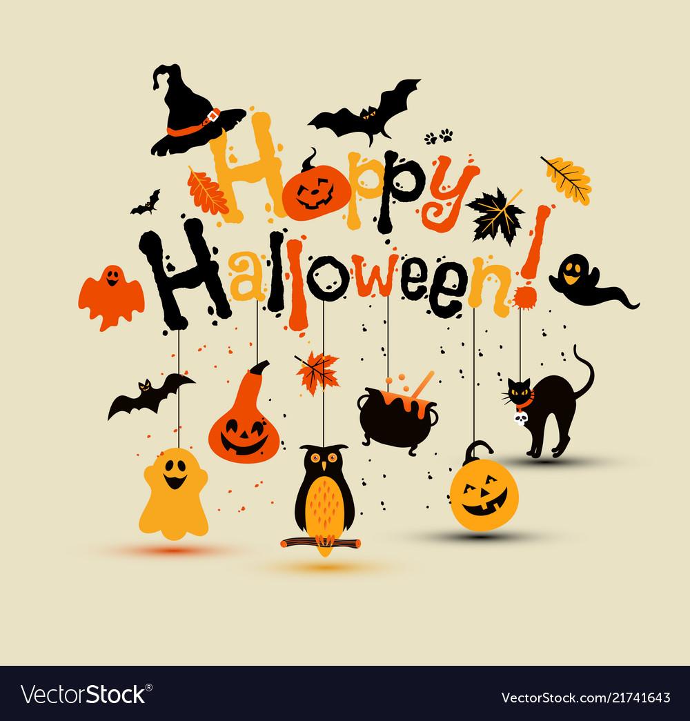 Halloween design with happy halloween