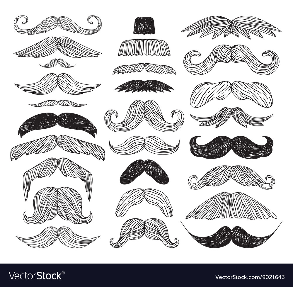 Huge set of mustache