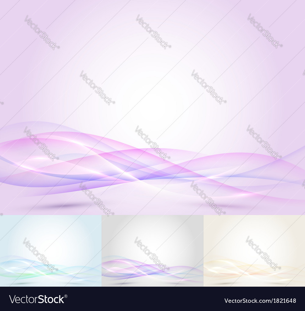 Colorful transparent wave - abstract background