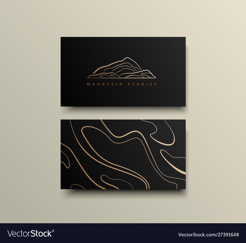 Creative mountain visit card design logo