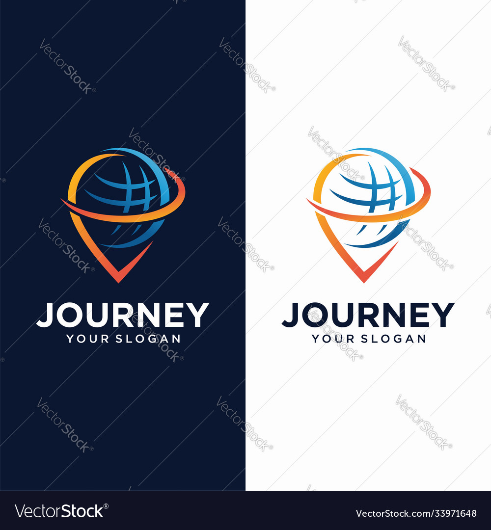Global pin logo design template