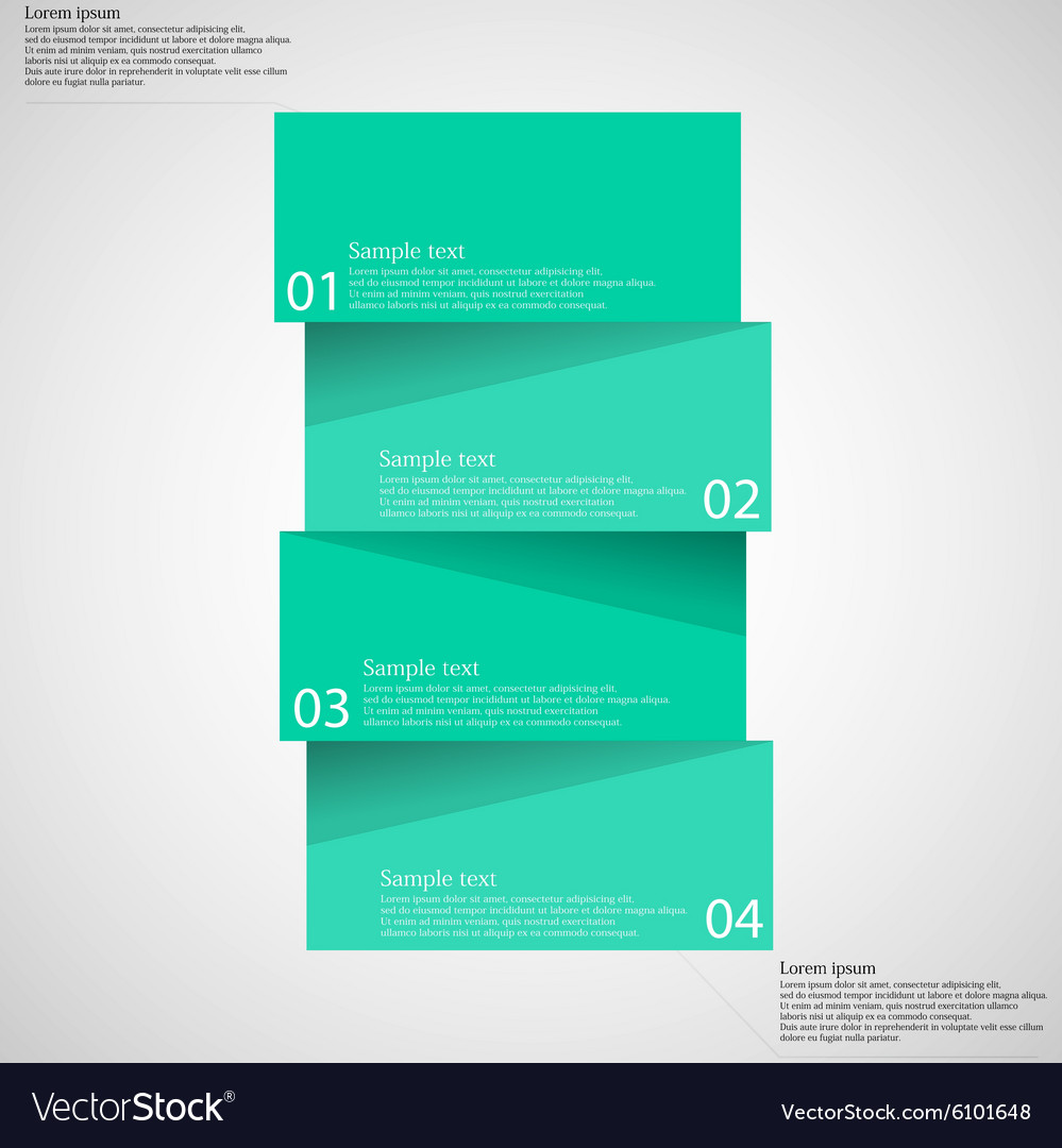 Infographic template with bar divided to four