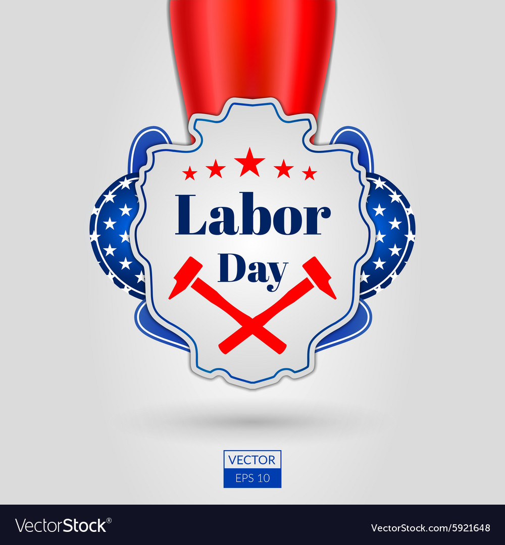 Labor day icon on grey background