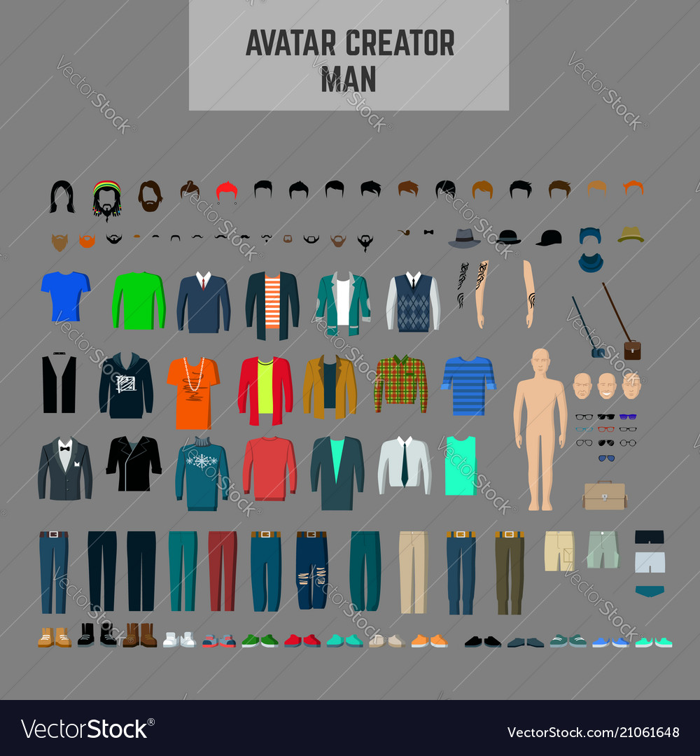 Male avatar creator man maker male avatar