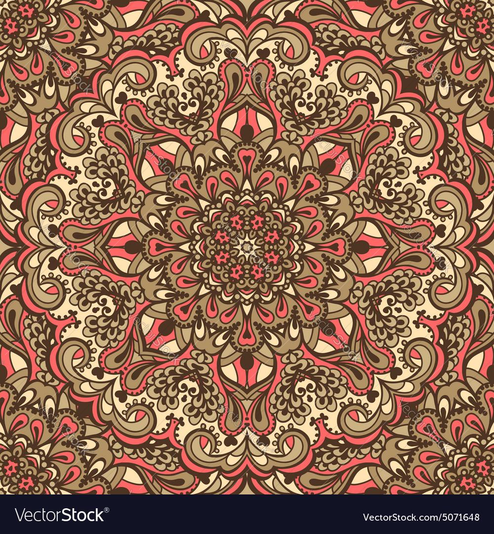 Oriental ornate seamless pattern