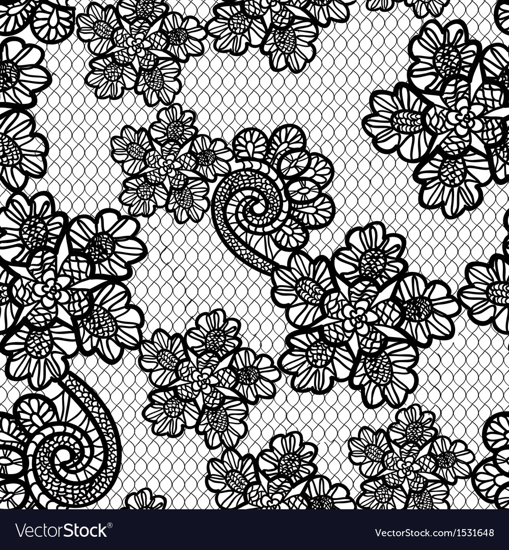 seamless lace pattern royalty free vector image rh vectorstock com vector lace pattern free seamless black vector lace pattern