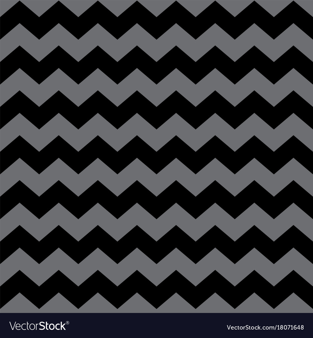 Zig zag chevron black and grey tile pattern vector image