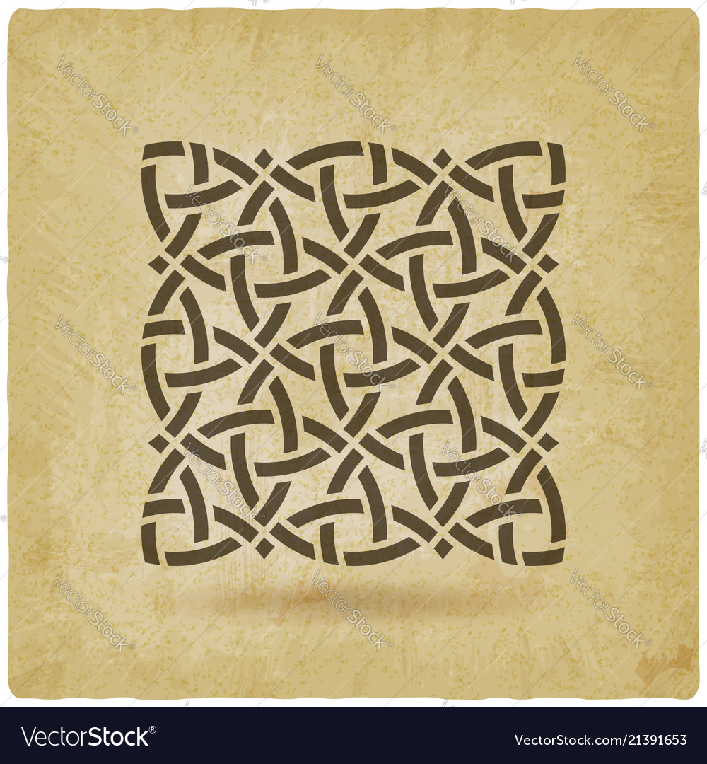 Celtic pattern vintage background