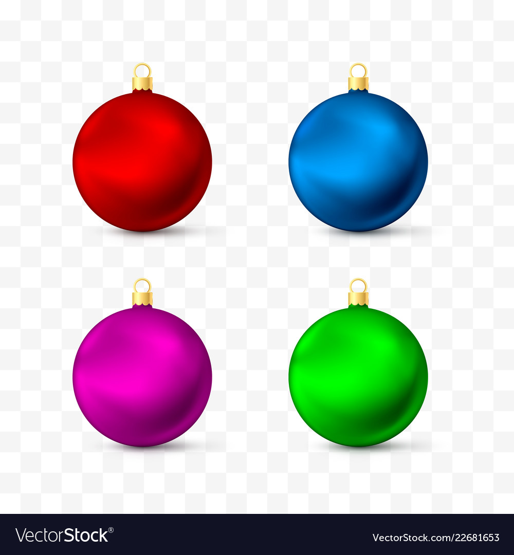 Christmas toys and decorations different colors