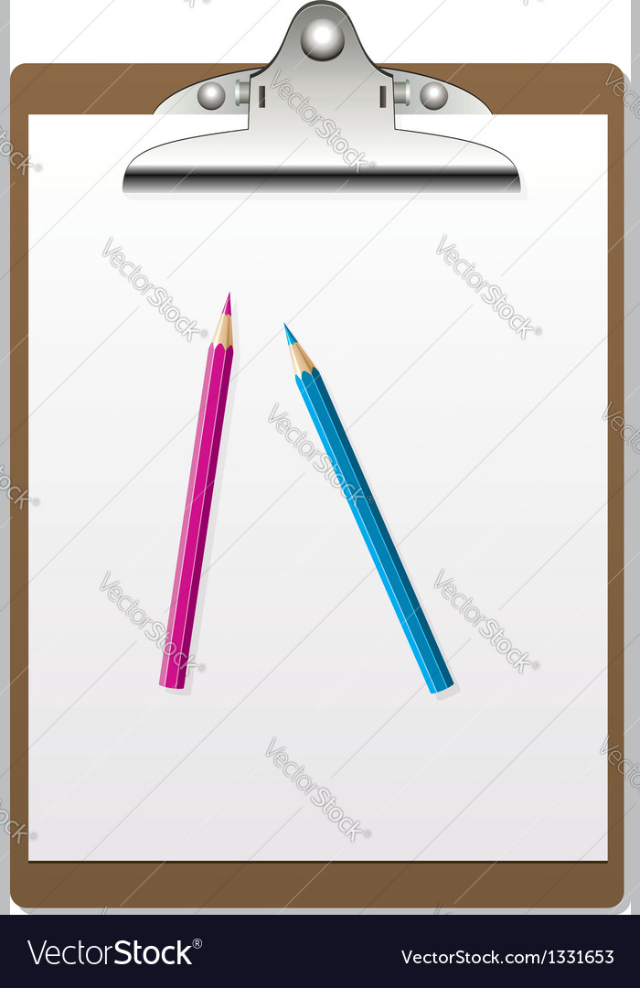 Clipboard and pencils
