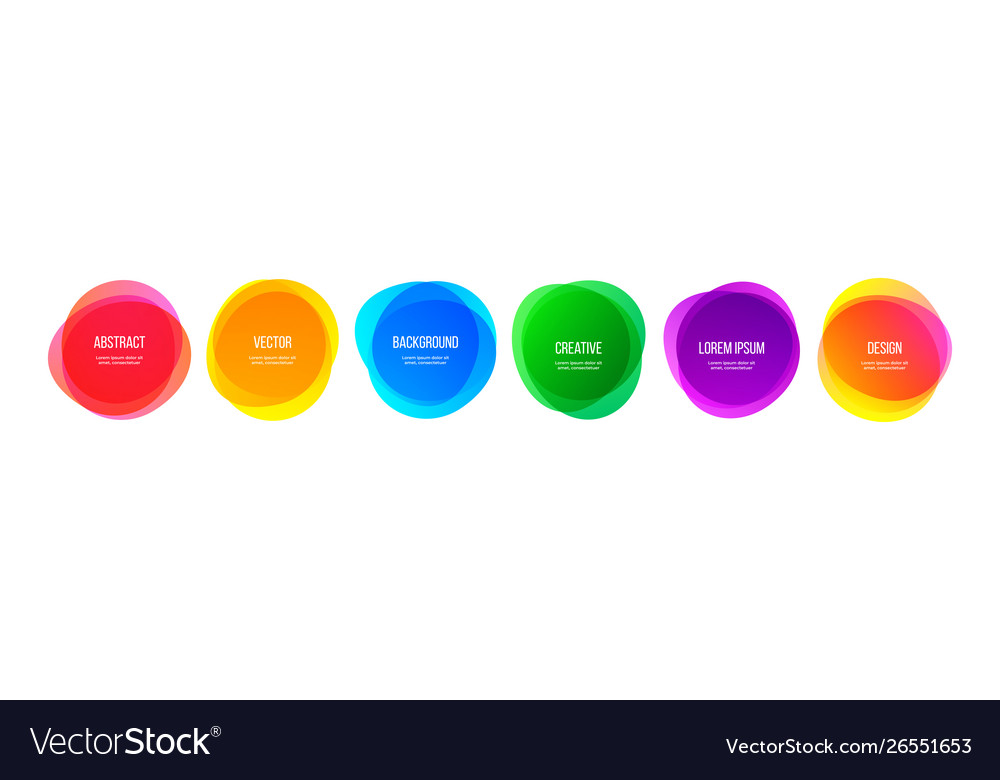 Color round shape banners and abstract colorful