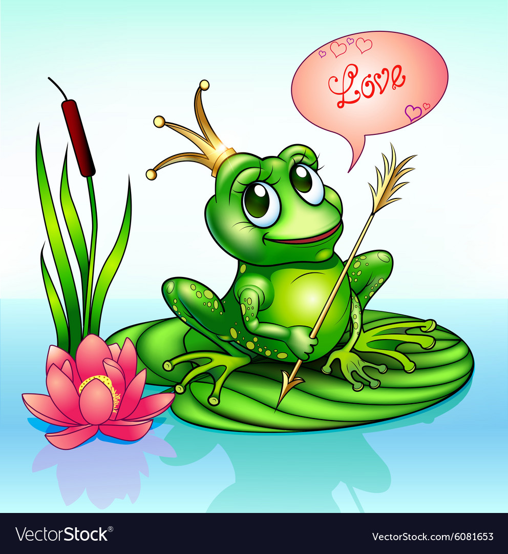 Frog princess on a leaf with