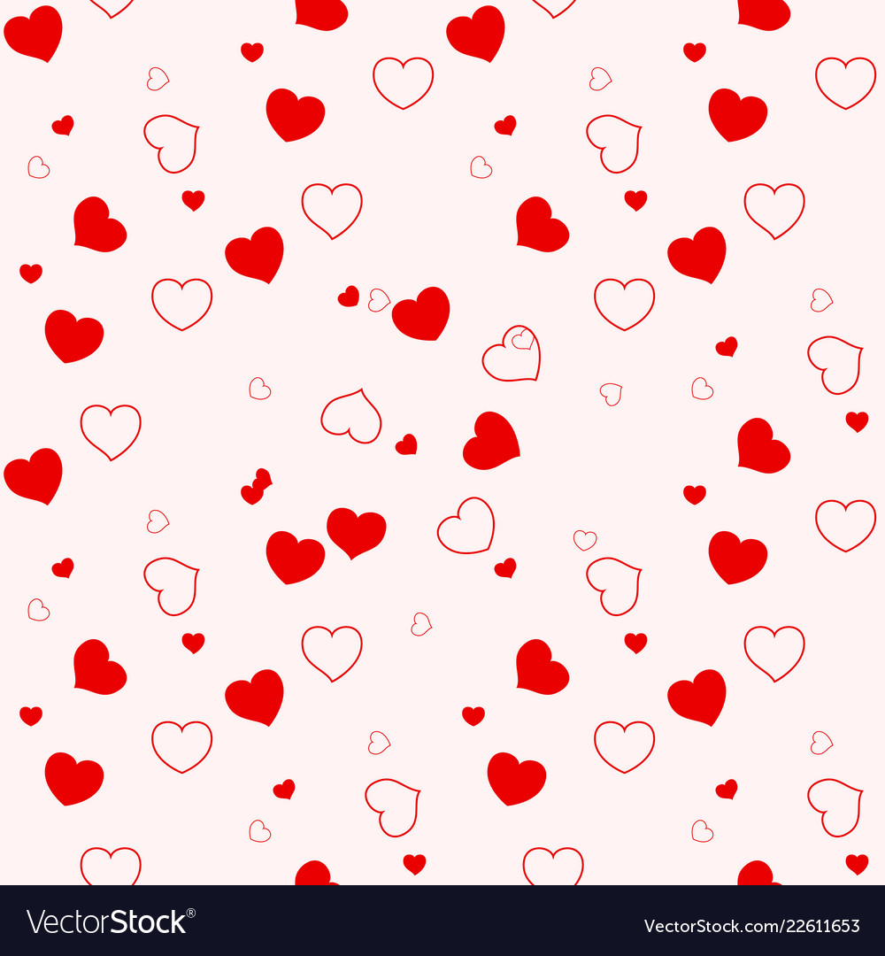 Heart seamless patterncolorful heartspackaging