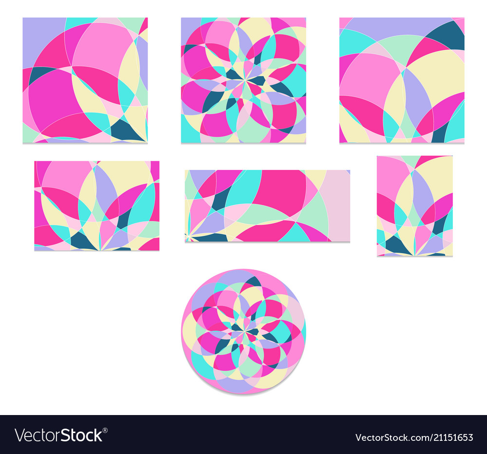 Set abstract pattern with multi-colored parts