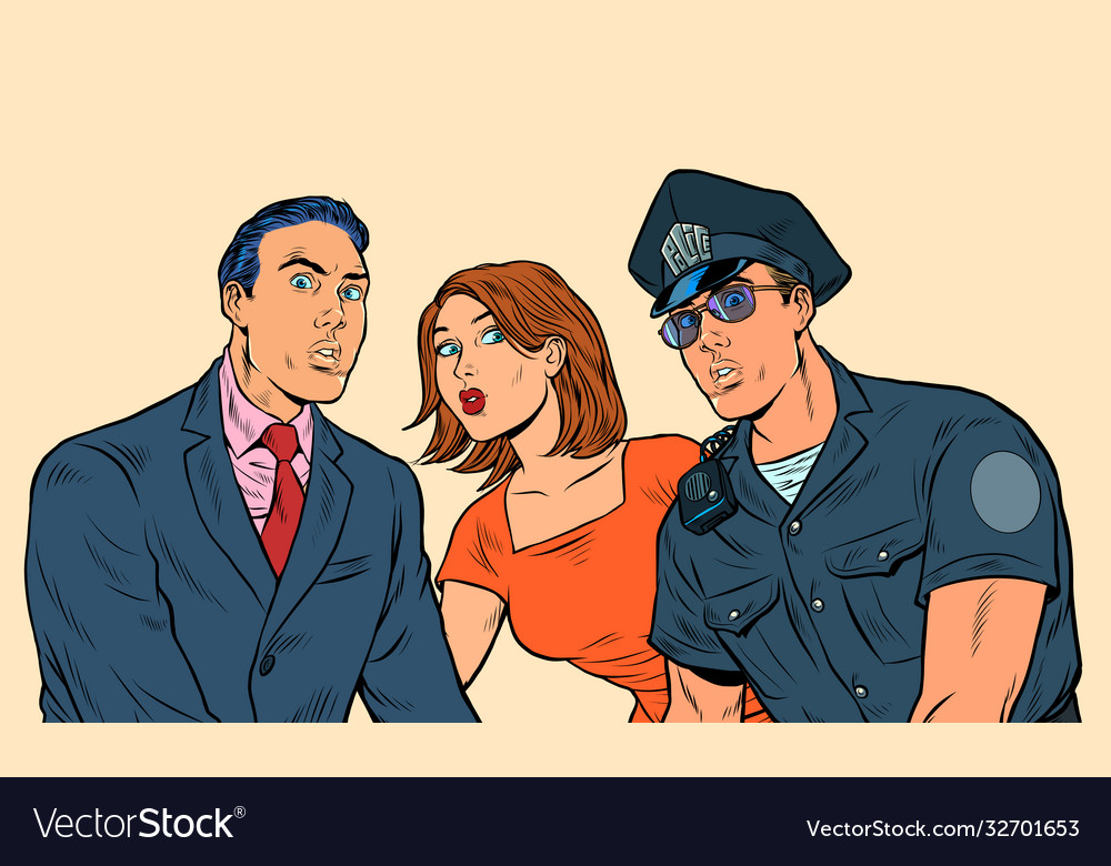 White family and police officer