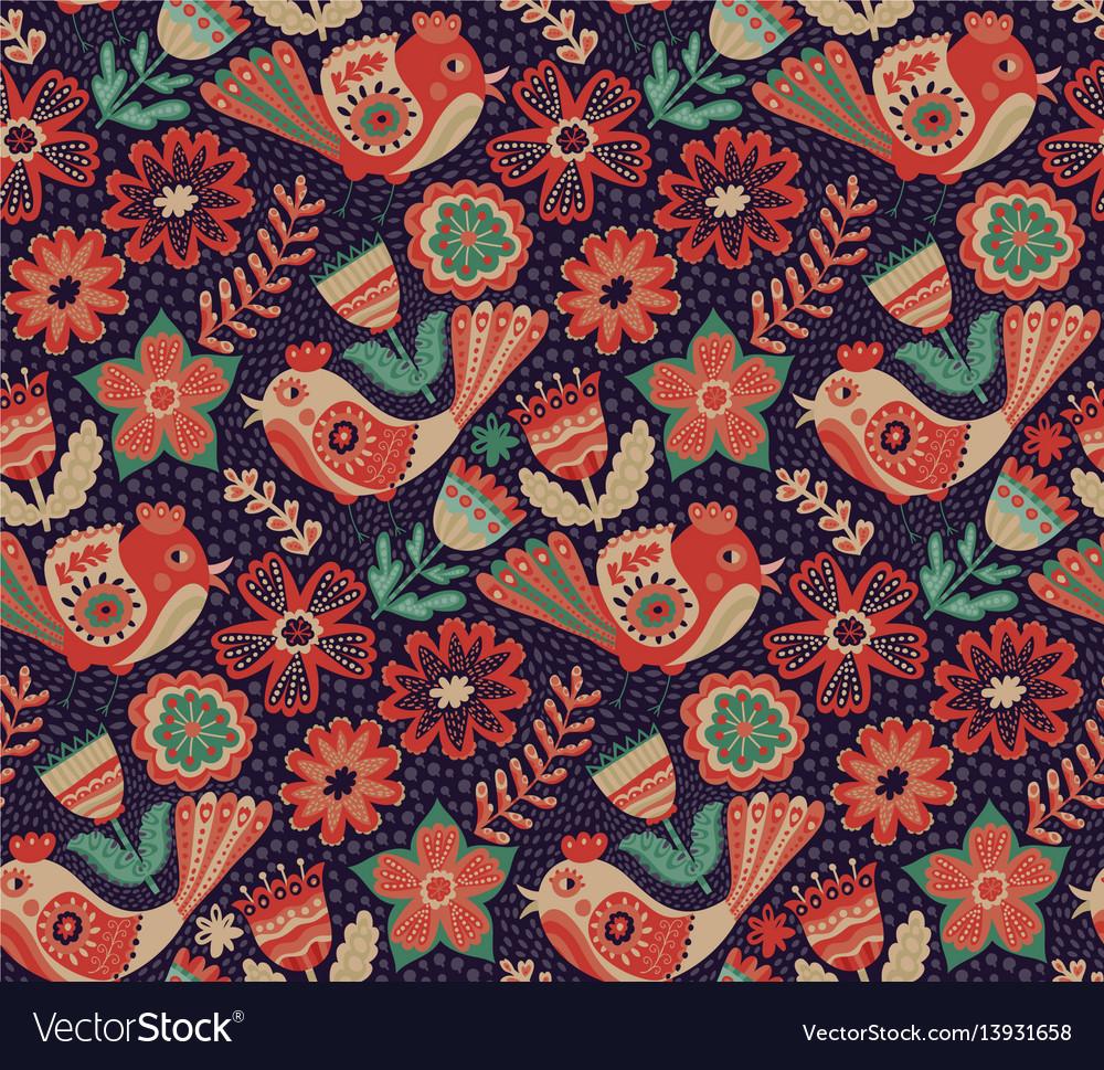 Flower pattern seamless botanic texture