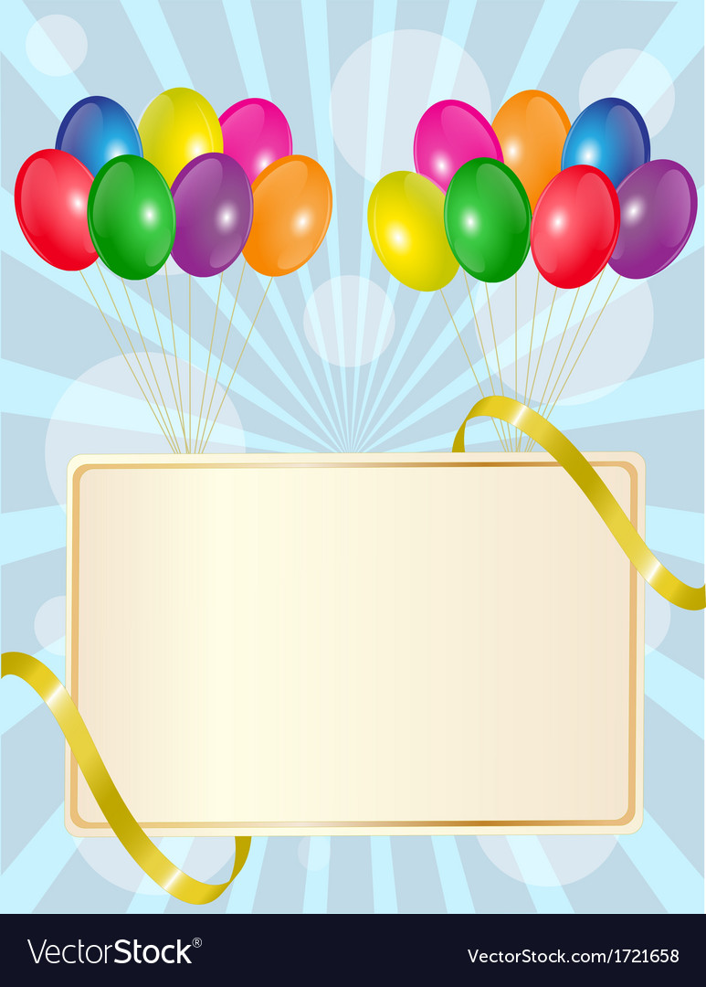 Greeting sign with balloons