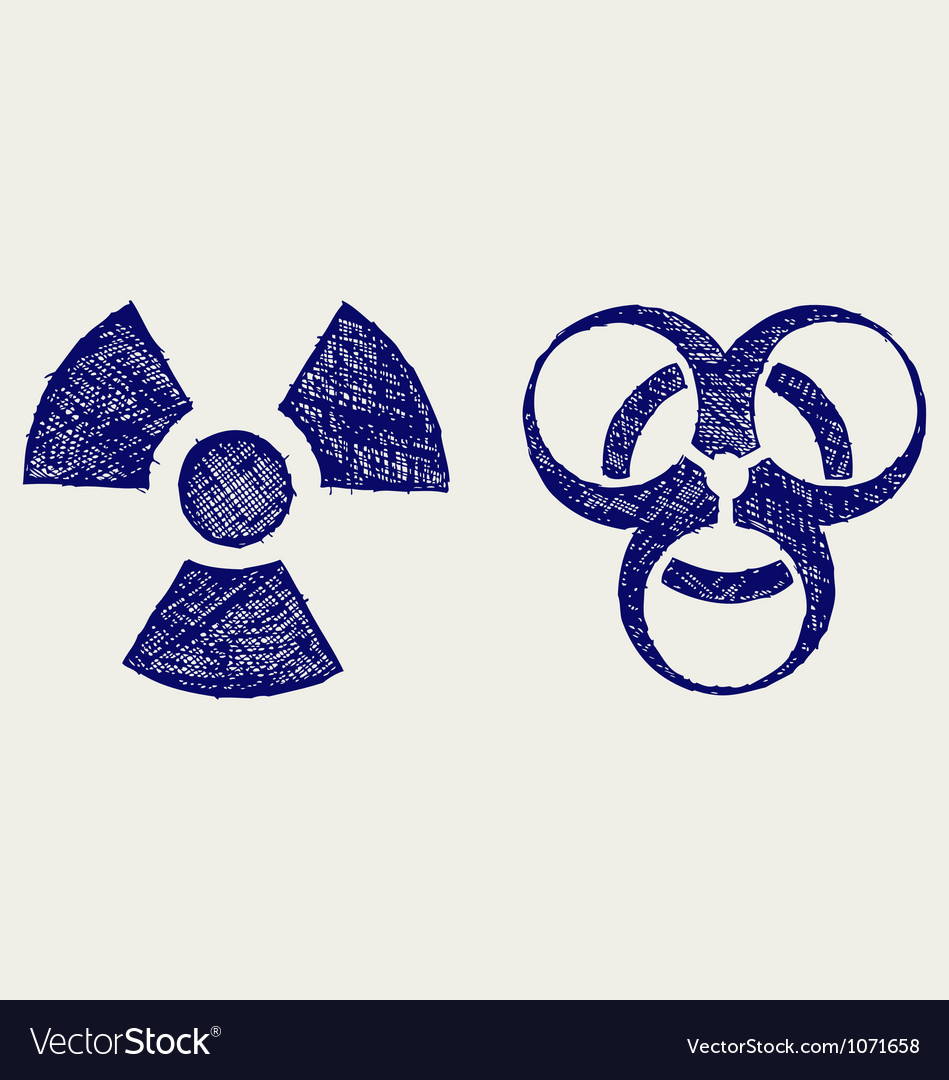 Radioactive and biohazard vector image